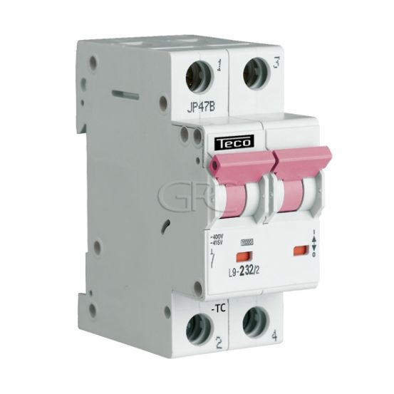 L9C224 / 157125 Teco Modulaire Automaat L9 TC 2P 2A 4.5kA Curve C 2844 img
