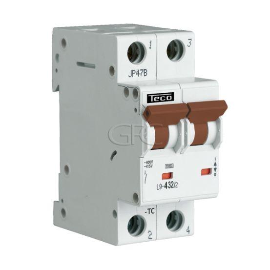 L9C424 / 157126 Teco Modulaire Automaat L9 TC 2P 4A 4.5kA Curve C 2845 img