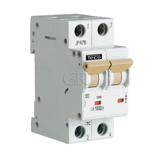 L9C1324 / 157129 Teco Modulaire Automaat L9 TC 2P 13A 4.5kA Curve C 2848 img