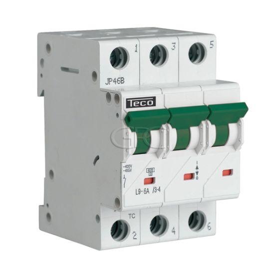 L9C634 / 157225 Teco Modulaire Automaat L9 TC 3P 6A 4.5kA Curve C 2856 img