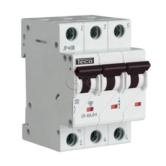 L9C4034 / 157232 Teco Modulaire Automaat L9 TC 3P 40A 4.5kA Curve C 2863 img