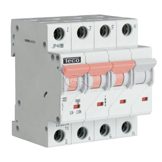 L9C23N4 / 157517 Teco Modulaire Automaat L9 TC 3P+N 2A 4.5kA Curve C 2864 img