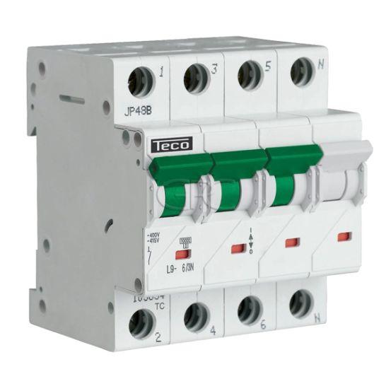 L9C63N4 / 157519 Teco Modulaire Automaat L9 TC 3P+N 6A 4.5kA Curve C 2866 img