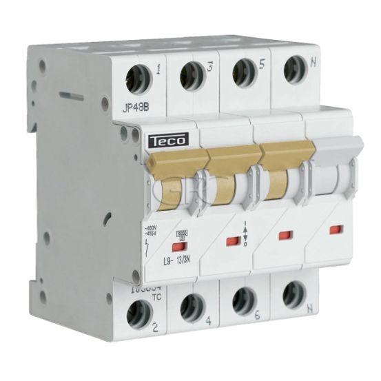 L9C133N4 / 157521 Teco Modulaire Automaat L9 TC 3P+N 13A 4.5kA Curve C 2868 img