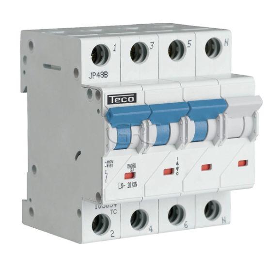 L9C203N4 / 157523 Teco Modulaire Automaat L9 TC 3P+N 20A 4.5kA Curve C 2870 img