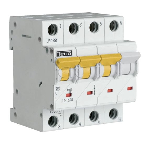 L9C253N4 / 157524 Teco Modulaire Automaat L9 TC 3P+N 25A 4.5kA Curve C 2871 img