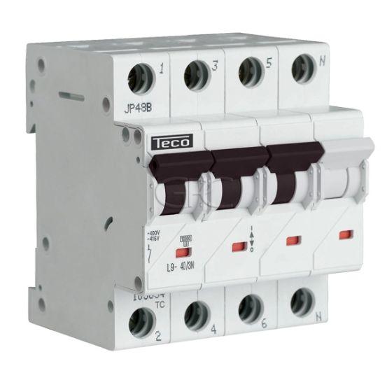 L9C403N4 / 157526 Teco Modulaire Automaat L9 TC 3P+N 40A 4.5kA Curve C 2873 img