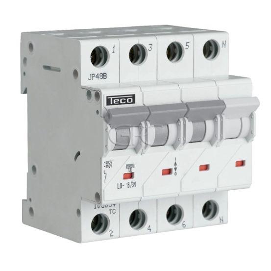 L9C163N6 / 157510 Teco Modulaire Automaat L9 TC 3P+N 16A 6kA Curve C 3154 img