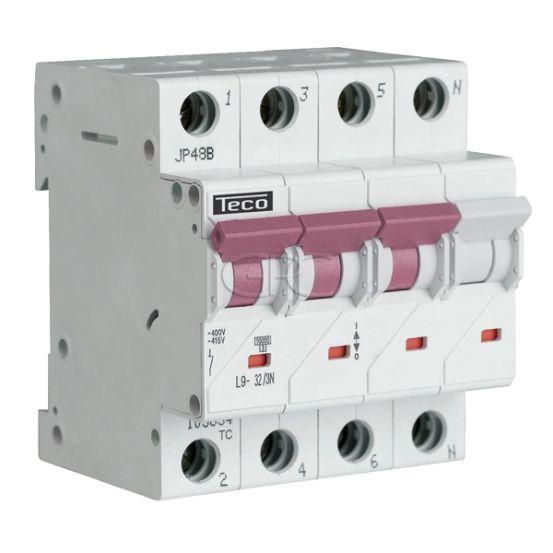 L9C323N6 / 157513 Teco Modulaire Automaat L9 TC 3P+N 32A 6kA Curve C 3155 img