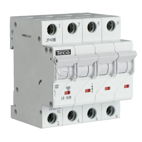 L9C503N6 / 157515 Teco Modulaire Automaat L9 TC 3P+N 50A 6kA Curve C 2876 img