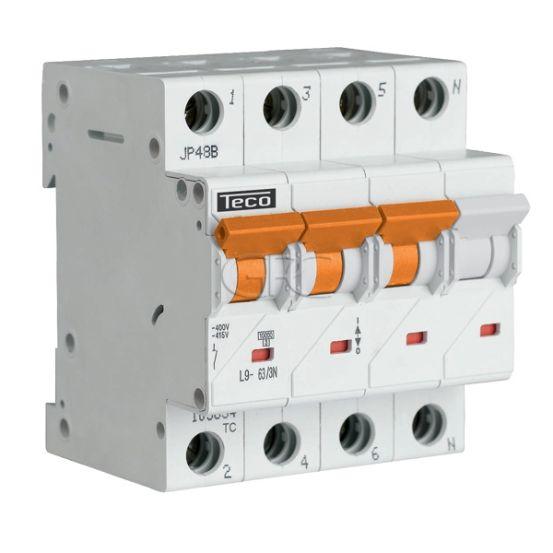 L9C633N6 / 157516 Teco Modulaire Automaat L9 TC 3P+N 63A 6kA Curve C 2877 img