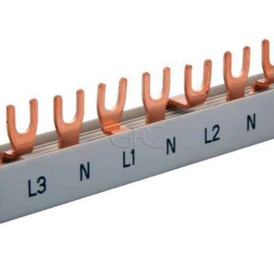 T16420FE Teco CONEXBOX Kamgeleider vork voor 3N400 net monofasige verdeling N-L1-N-L2-N-L3 80A 16mm² 355mm 3787 img