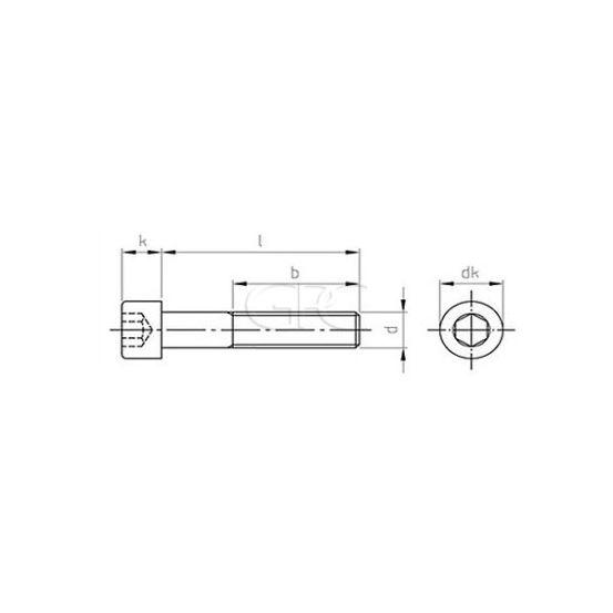 GPC Binnenzeskantbout DIN 912 A2 M8*45 (100) 1445 img