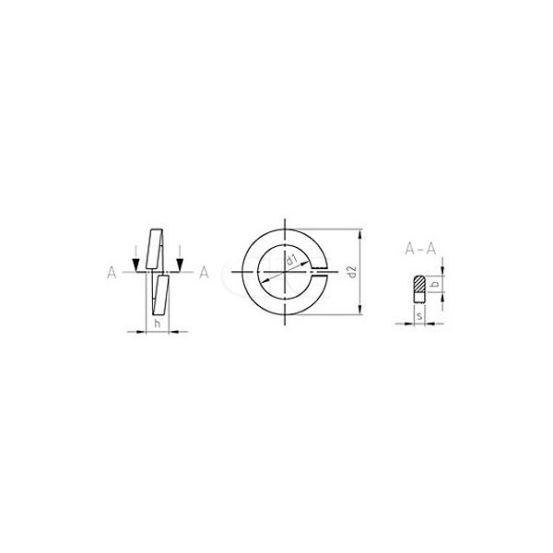 GPC Veerring DIN 127B A2 M10 10.2mm (500) 3406 img