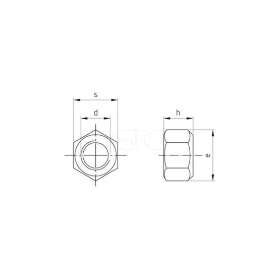 GPC Zeskant Zelfborgende Moer Nylon DIN 985 A2 M6 585 img
