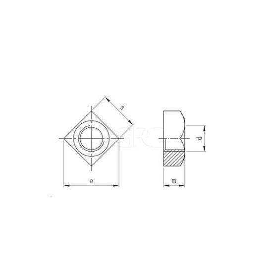 GPC Vierkantmoer DIN 557 A2 M6 (200) 3413 img
