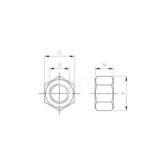 GPC Zeskantmoer DIN 934 A2 M12 (200) 3418 img
