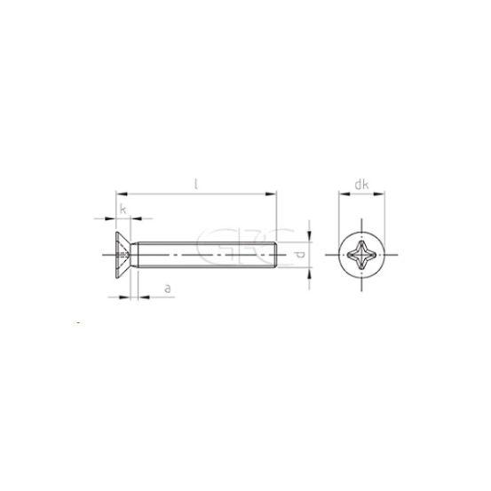 GPC Schroef met Verzonken Kop DIN 965 A2 5.0*10 975 img