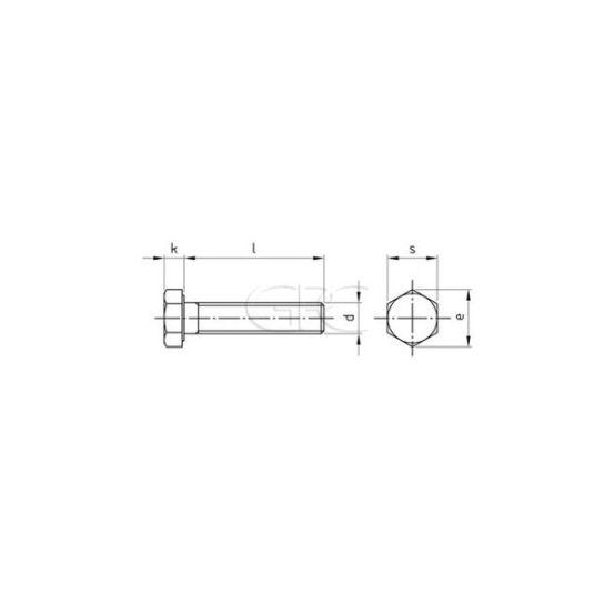 GPC Zeskantbout DIN 933 A2 M8*160 (25) 3473 img