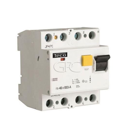 F9254003A / 157902 Teco Differentieelschakelaar F9 TC 4P 25A 30mA Type A 2831 img
