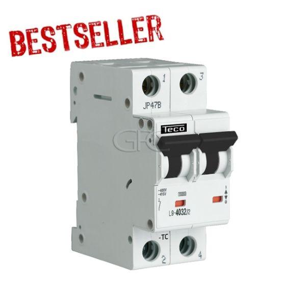 L9C4024 / 157134 Teco Modulaire Automaat L9 TC 2P 40A 4.5kA Curve C 2853 img