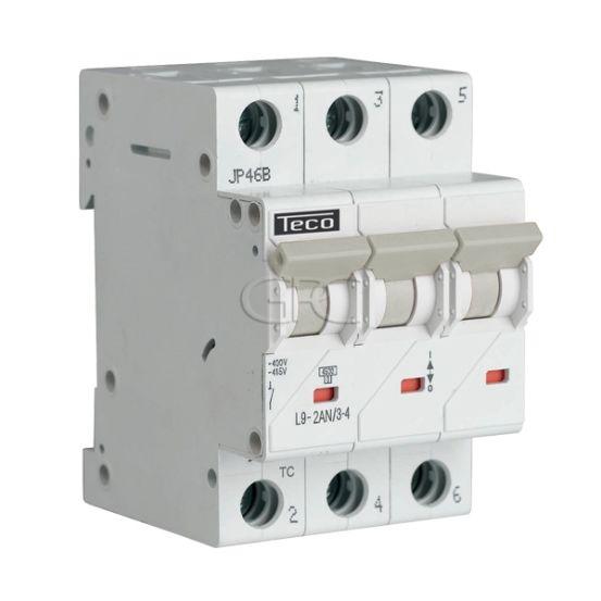 L9C234 / 157223 Teco Modulaire Automaat L9 TC 3P 2A 4.5kA Curve C 2854 img