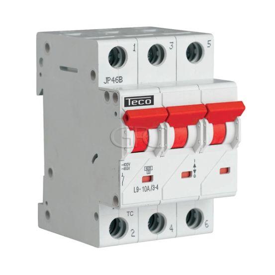 L9C1034 / 157226 Teco Modulaire Automaat L9 TC 3P 10A 4.5kA Curve C 2857 img