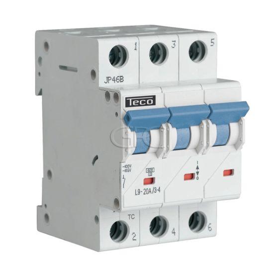 L9C2034 / 157229 Teco Modulaire Automaat L9 TC 3P 20A 4.5kA Curve C 2860 img