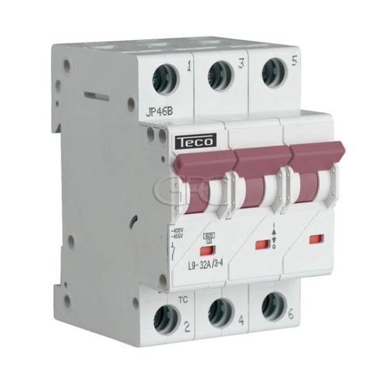L9C3234 / 157231 Teco Modulaire Automaat L9 TC 3P 32A 4.5kA Curve C 2862 img