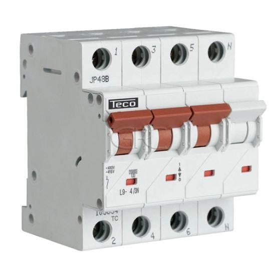 L9C43N4 / 157518 Teco Modulaire Automaat L9 TC 3P+N 4A 4.5kA Curve C 2865 img