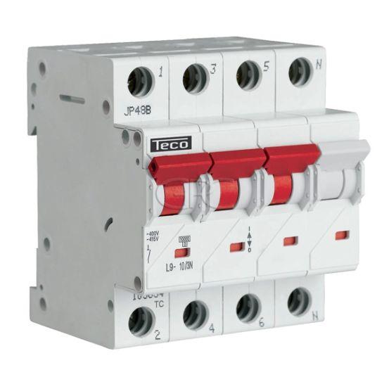 L9C103N6 / 157508 Teco Modulaire Automaat L9 TC 3P+N 10A 6kA Curve C 3153 img