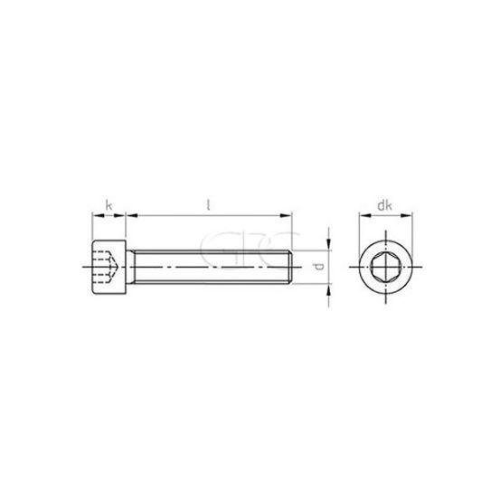 GPC Binnenzeskantbout DIN 912 A2 M8*20 253 img