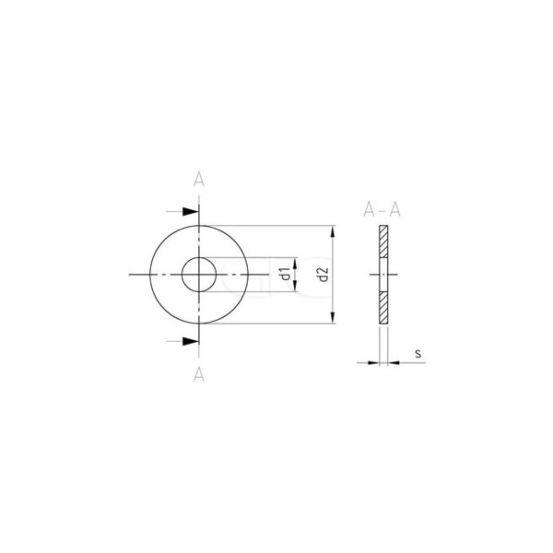 GPC Vlakke Sluitring DIN 9021 A2 M12 13mm (200) 3404 img