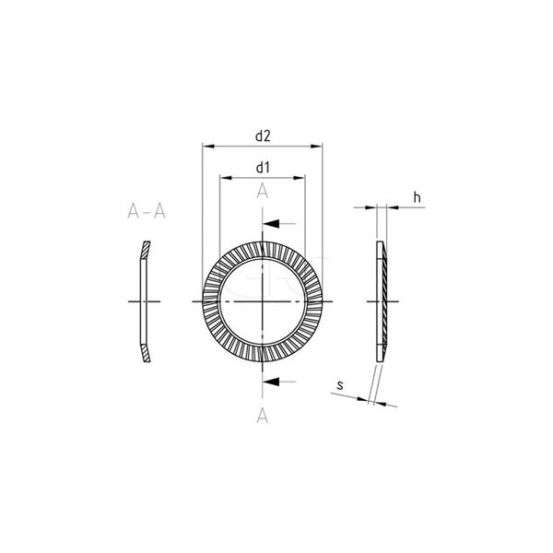 GPC Borgveerring 'S' A2 M8 8.4mm 267 img