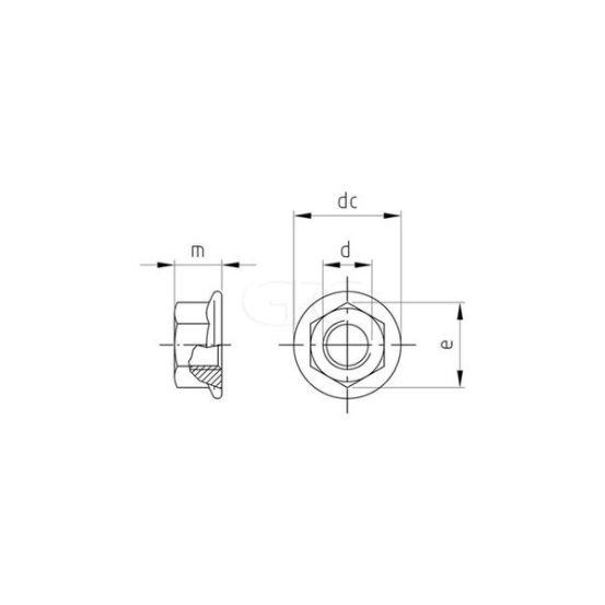GPC Zeskant Zelfborg. FlensmoerDIN6923 A2 M12(100) 259 img