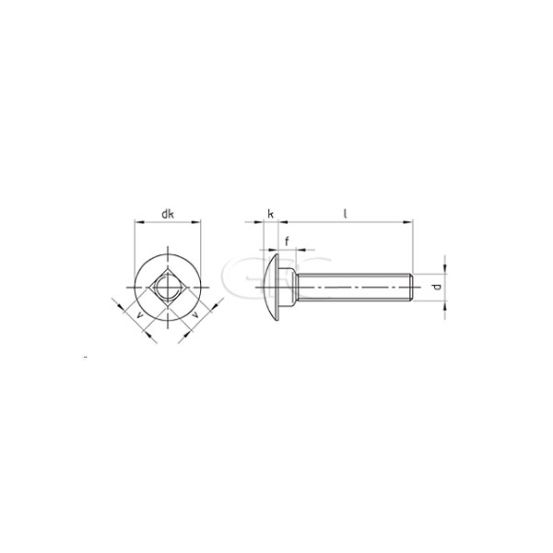 GPC Slotbout DIN603 A2 M8*40/40 2950 img