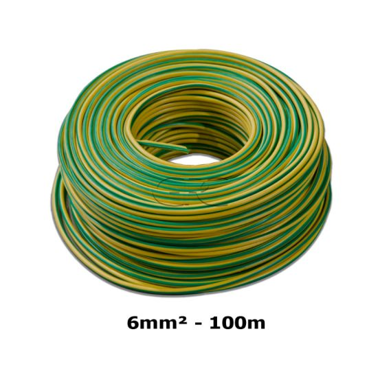 GPC Aardingskabel H07V-Kst 1*6mm² Groen/Geel, vertind, 100m 6320 img