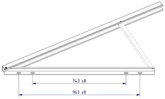 Schletter Driehoeksteun Light 1.5M - 15° 10319 img