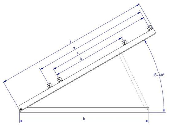 Schletter Driehoeksteun Light 1.5M - 30° 10320 img