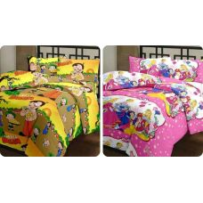This Vamira Cotton Single Bed AC Quilt / Dohar / comforter / Blanket / Baby Blanket for Mild Winter. Fully Stitched Blanket with Cotton Fabric and Fallain Inner Material, In Multicolor Blanket, Light Weight and Soft Quilt / Blanket, Set of Combo pack of 2