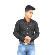 Clothonics Mens Shirt Printed Black