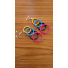 Multicoloured Ring earrings