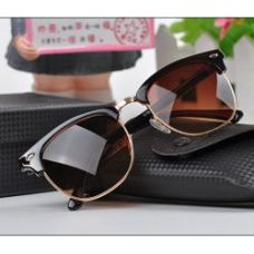 Brown Color Club-Master Type Fancy Goggles Sunglasses
