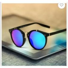 Blue Color Half Round Type Fancy Goggles Sunglasses