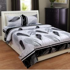 MJJ 100% cotton Double Bed sheet with 2 pillow covers