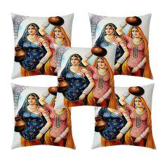 MJJ Home 140 TC  set of 5 Pcs cushion covers