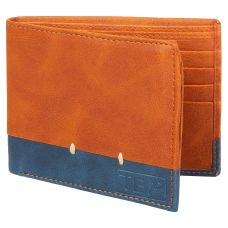 Dussledorf gatsby Tan and Blue Men's Wallet (GTH-0807)