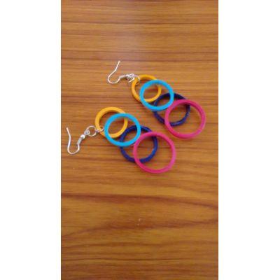 Multicoloured Ring earrings