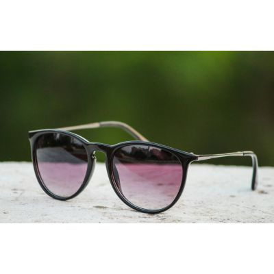 Purple Color Half Round Type Fancy Goggles Sunglasses