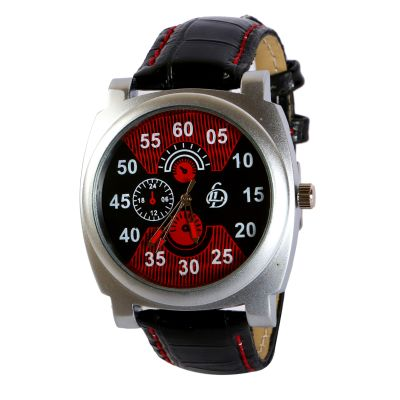 LUBHNA LD-Red-Black  Sports Watch - For Men